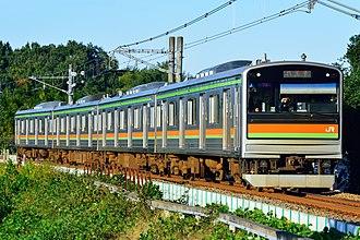 Hachikō Line - Image: JR East 205 3000 series Hachikō Line 20171030