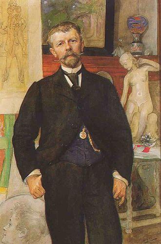 Johan Jacob Ahrenberg - Jac Ahrenberg, portrait by Carl Larsson