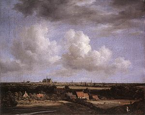 View of Haarlem from the Northwest, with the Bleaching Fields in the Foreground - Image: Jacob Isaacksz. van Ruisdael Landscape with a View of Haarlem WGA20496