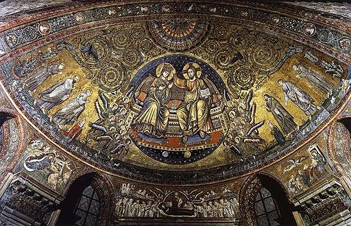 Jacopo torriti, coronation of the virgin, santa maria maggiore, rome