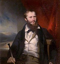 James Holman, in an 1830 Royal Society portrait by George Chinnery painted in Canton (modern-day Guangzhou).