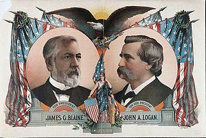 John A. Logan - Blaine/Logan campaign poster
