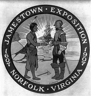 Jamestown Exposition fair commemorating the 300th anniversary of the founding of Jamestown in the Virginia Colony