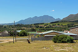 View over Jamestown towards Stellenbosch