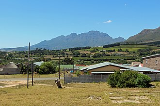 Jamestown, Western Cape - View over Jamestown towards Stellenbosch