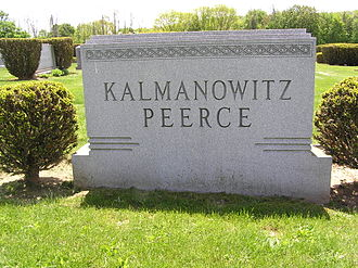 Jan Peerce - The headstone of Jan Peerce