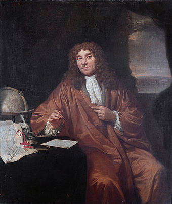 Antonie van Leeuwenhoek, the father of microbiology, cell biology and bacteriology. Jan Verkolje - Antonie van Leeuwenhoek.jpg