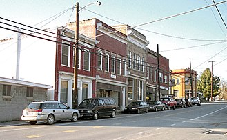 Jane Lew, West Virginia - Main Avenue (U.S. Route 19) in Jane Lew in 2006