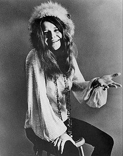 A cantaire y compositora estatounitense Janis Joplin.