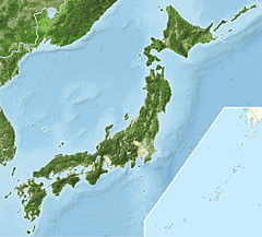 Location map Japan liggur í Japan