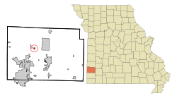 Location of Alba, Missouri