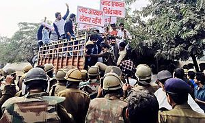 Jat reservation agitation - Jat protesters arrested