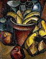 Jean Marchand, Still life with fruit and flower pot, c.1912.jpg