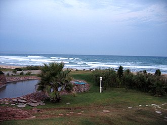 Jeffreys Bay - Image: Jeffreys Bay beach view