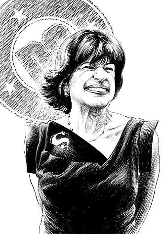 Jenette Kahn - Portrait of Jenette Kahn by Michael Netzer
