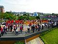 Jingmei Girls' Senior High School Marching Band in Taipei International Flora Expo Closeing Parade 20110425d.jpg