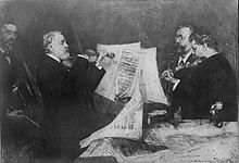 Joachim-Quartett mit (v.l.n.r.): Robert Hausmann, Joseph Joachim, Emanuel Wirth und Carl Halir. Bild: Ferdinand Schmutzer (Quelle: Wikimedia)
