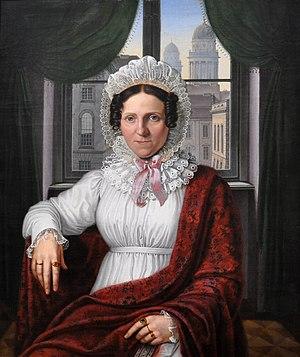 Johann Erdmann Hummel - Johann Erdmann Hummel: Portrait of Mrs. Luise Mila