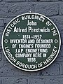 John Alfred Prestwich 1874-1952 Inventor and designer of engines founded J.A.P. Engineering Company here in 1898.jpg