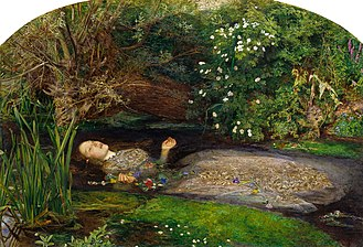 Hogsmill River - Ophelia – the play may have been in Denmark and the model in a bath, but the landscape was the Hogsmill near Ewell