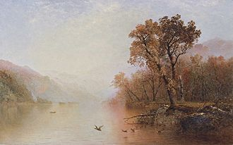 Lake George (New York) - Lake George, ca. 1860, painted by John Frederick Kensett. Museo Thyssen-Bornemisza