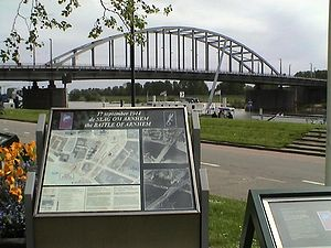 John Frost (British Army officer) - The John Frost Bridge, as seen from the memorial.