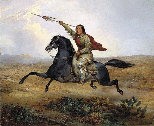 John Mix Stanley - Ko-rak-koo-kiss, a Towoccono Warrior - 1985.66.248,931 - Smithsonian American Art Museum