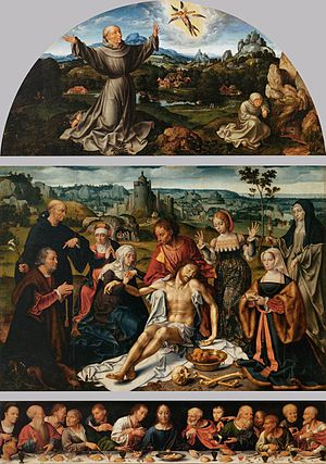 Joos van Cleve - Altarpiece of the Lamentation, 1520-1525