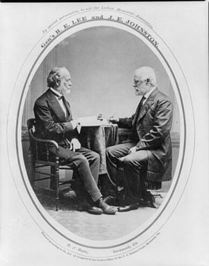 Joseph E. Johnston - Image: Joseph E Johnston&Robert E Lee Post War