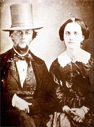 Mission Santa Inés - Joseph John Chapman and his wife Guadalupe Ortega, circa 1847.