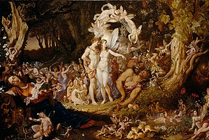 The Reconciliation of Titania and Oberon. Oil ...