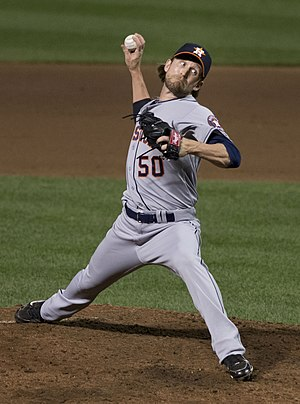Josh Fields (pitcher) - Fields with the Houston Astros