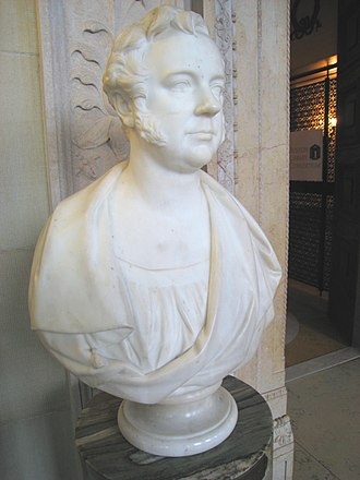 William Behnes - Bust of banker Joshua Bates, by William Behnes