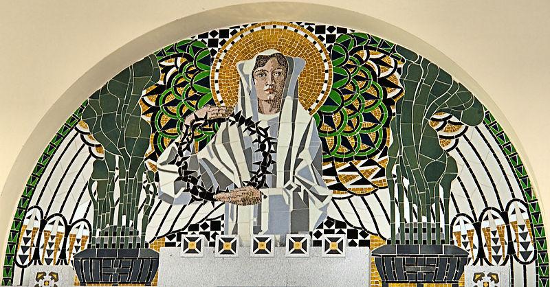 File:Jugendstil Mosaic - Friedhofskirche zum Heiligen Karl ...