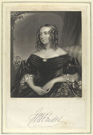 Julia Pardoe - Julia Pardoe book frontispiece with her signature at the bottom.