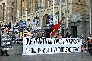 Aboriginal deaths in custody issue of concern relating to the high number of Aboriginal Australians who have died while in police custody