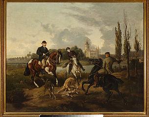 Scena z polowania w Radziejowicach