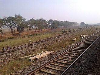 Barharwa Junction railway station - Image: Junction point
