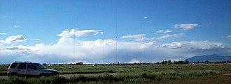 KLO (AM) - The radio towers for KLO 1430, near Layton, Utah.