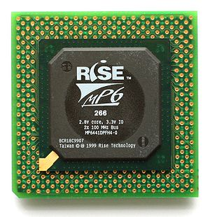Rise Technology - The Rise mP6-PR266 microprocessor.
