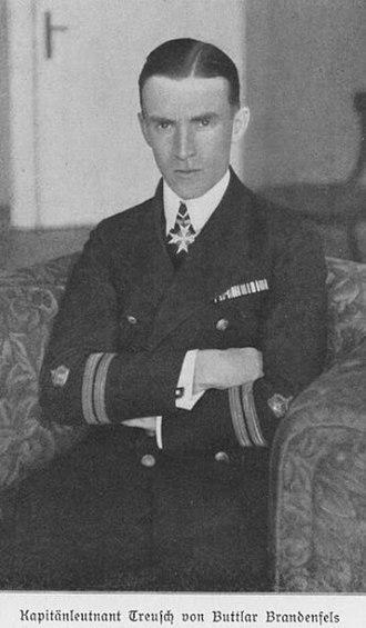 Horst Julius Freiherr Treusch von Buttlar-Brandenfels - Kapitänleutnant zur See Treusch von Buttlar Brandenfels (1918)