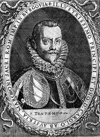 Charles, Margrave of Burgau - Charles, Margrave of Burgau, copper engraving by Dominicus Custos, after 1606