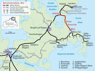 Lietzow–Binz railway railway line