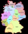 Karte Deutsche Bundesländer farbig beschriftet.png