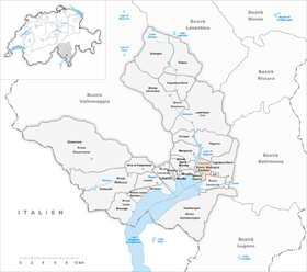 Map of Gordola