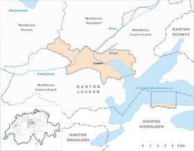 Karte von Luzern