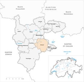 Karte Gemeinde Sirnach 2011
