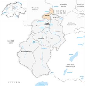Map of Wolhusen