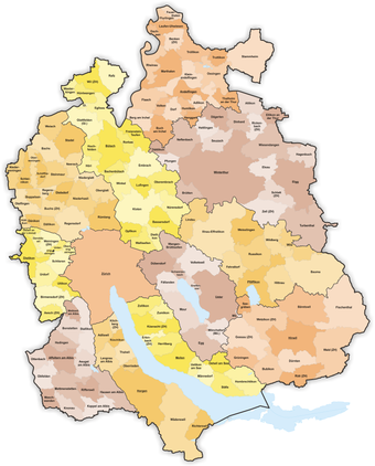 Political municipalities of the canton