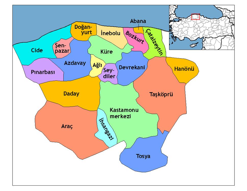 Kastamonu districts